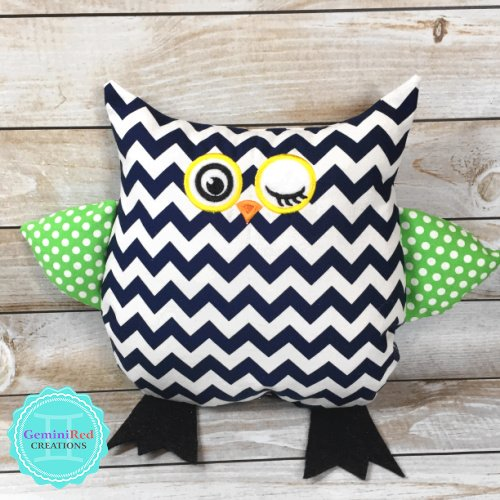 Stuffed Owl Pillow / Toy {Owlivia and Owliver}