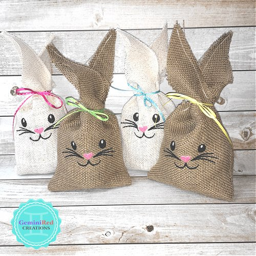Burlap Bunny Gift Bags / Place Setting Markers