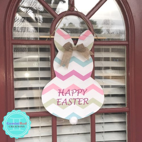 Personalized Canvas Easter Bunny Garden/Door Flag