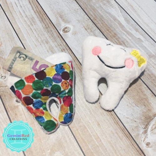 Tooth Fairy Mini Plush Pillow with pocket