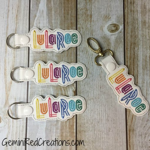 LuLaRoe Embroidered Vinyl Key Fob