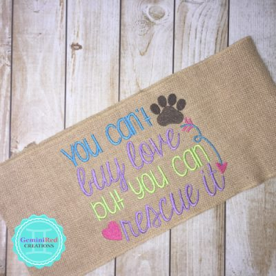Burlap Pillow Wraps with Dog Sayings