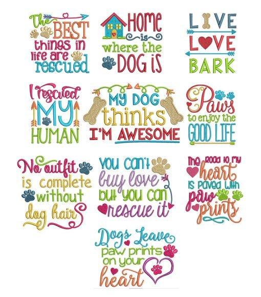 burlap pillow wraps with dog sayings