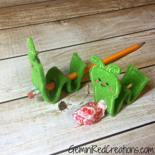 Inchworm Lollipop Pencil Topper