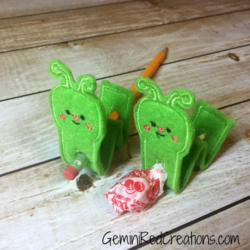 inchworm lollipop pencil topper geminired creations