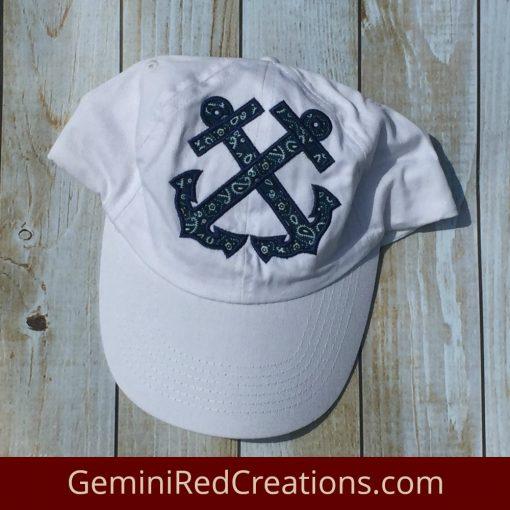 Anchor Appliqué Baseball Cap / Baseball Hat