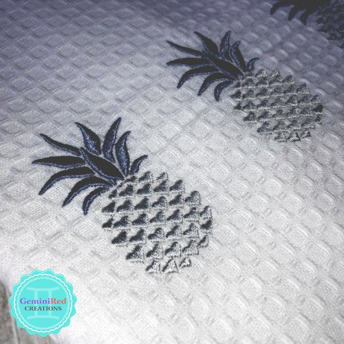 Pineapple Embroidered Kitchen Towels