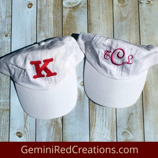 Monogrammed Baseball Cap / Baseball Hat