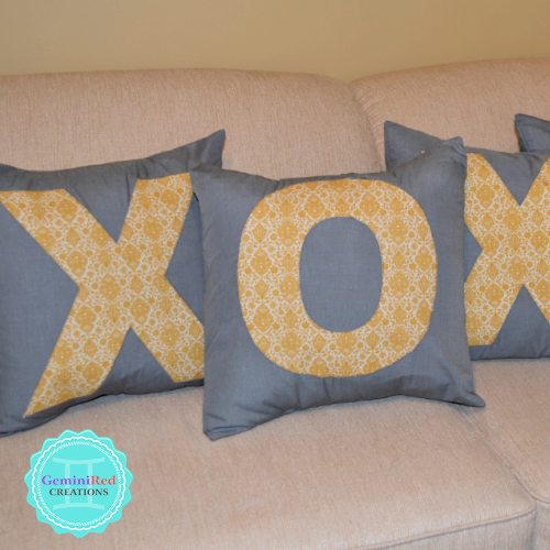 Initial Applique Pillow Covers {Made to Order}