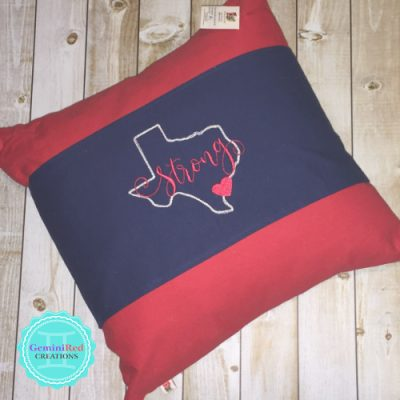 Texas Strong Canvas Twill Pillow Wrap
