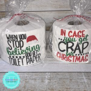 Embroidered Toilet Paper {Christmas}