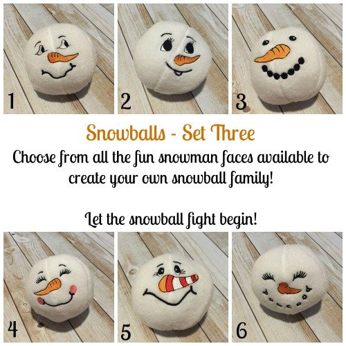Fleece Plush Snowballs