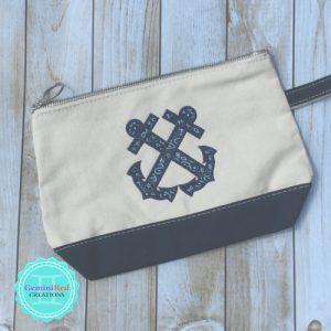 Canvas Custom Color Block Cosmetic Bag