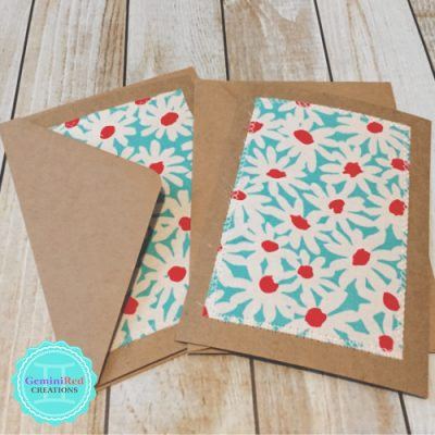 Fabric Note Cards