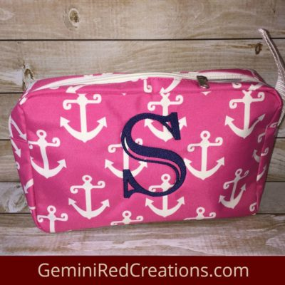 Nautical Travel Zipper Case