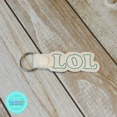 LOL Embroidered Vinyl Key Fob