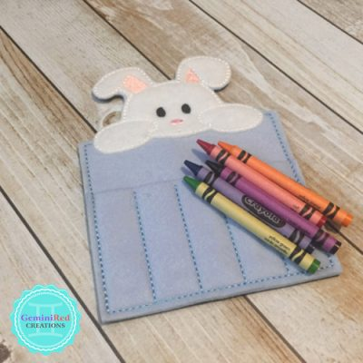 Bunny Crayon Holder {without ribbon closure}