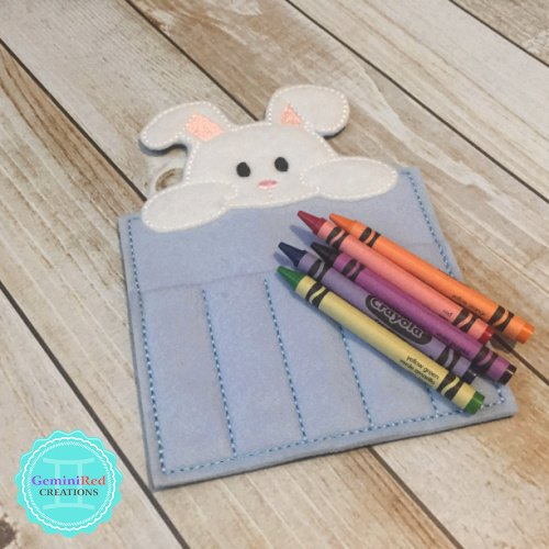 Bunny Crayon Holder {without ribbon closure}