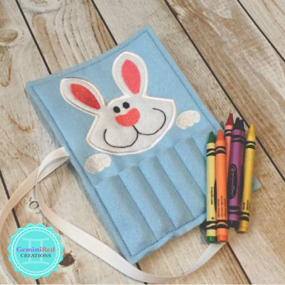 Bunny Crayon Holder {with ribbon closure}