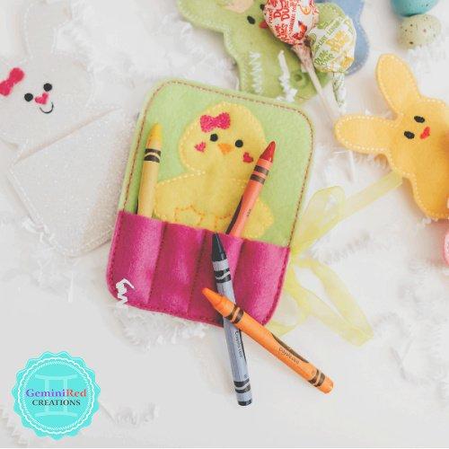 Easter Chick Crayon Holder