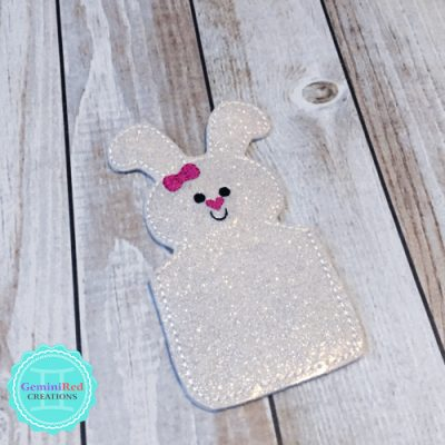 Bunny Embroidered Vinyl Gift Card Holder