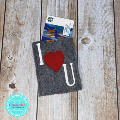 I *heart* You Gift Card Holder