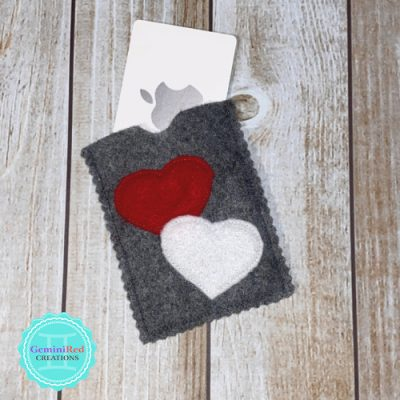 Two Hearts Gift Card Holder