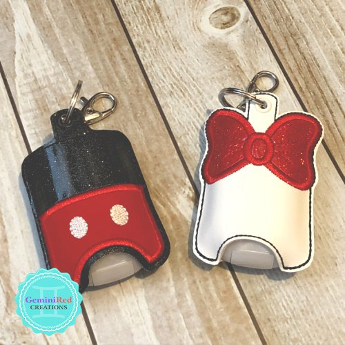 Bow Buttons Sanitizer Holder
