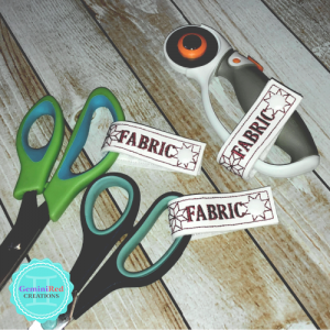 Embroidered Scissor Tags {Fabric}