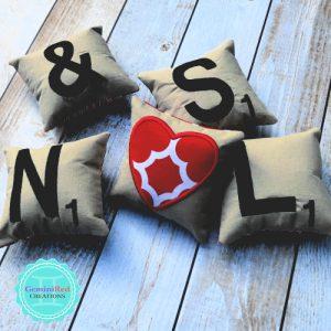 Mini Scrabble Tile Pillows