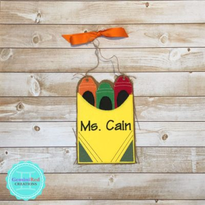Crayon Box Door Hanger