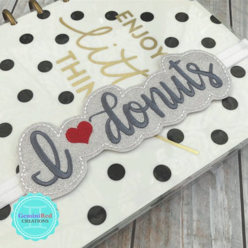 I *heart* Donuts Planner Book Band