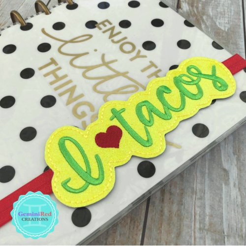 I *heart* Tacos Planner Book Band