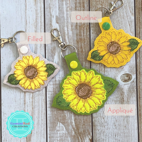 Sunflower Key Fobs Notebook Covers
