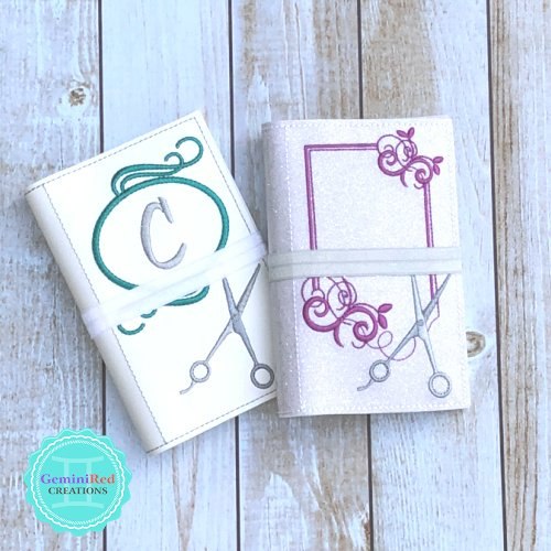 Stylist Scissors Monogram Notebook Cover