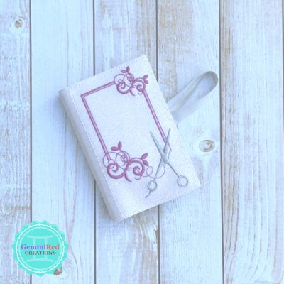 Stylist Scissors Monogram Notebook Cover