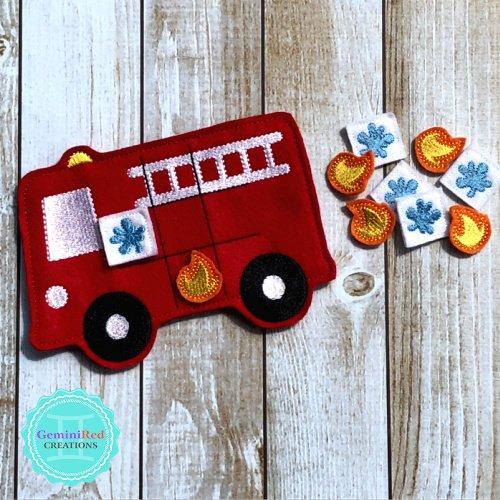 Fire Truck Tic Tac Toe Game
