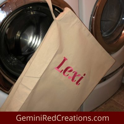 Personalized Natural Canvas Laundry Bag