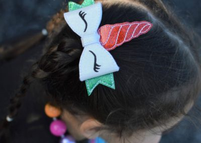 Unicorn Christmas Hair Clip