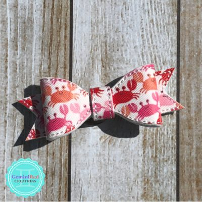 Patterned Bow Hair Clip
