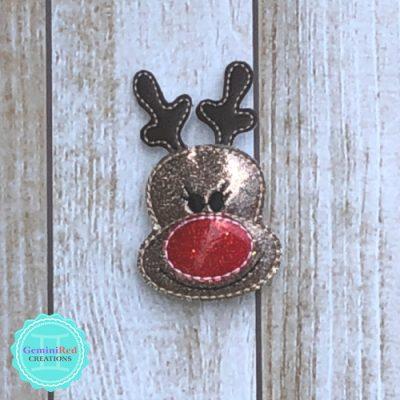Rudolph Flashing Hair Clip