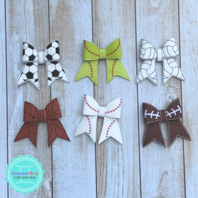 Sports Bow Hair Clip