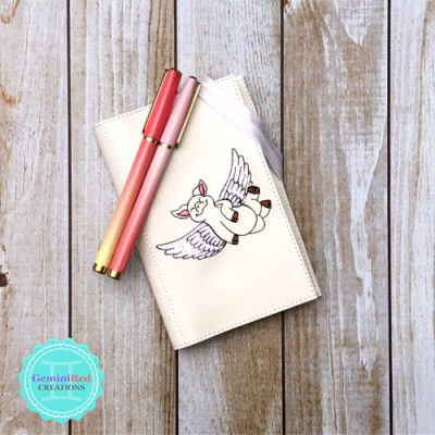 Flying Pig Notebook Cover