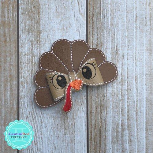 Turkey Bow Hair Clip