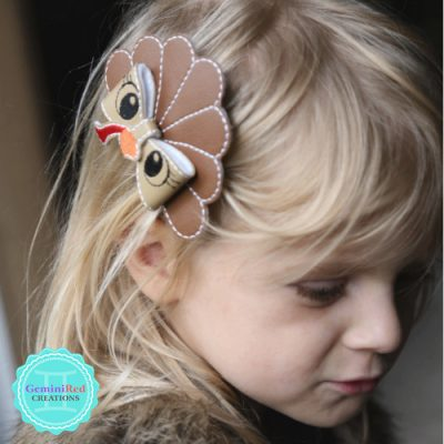 Turkey Bow Hair Clip