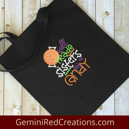 Halloween Bag Trade Sisters for Candy