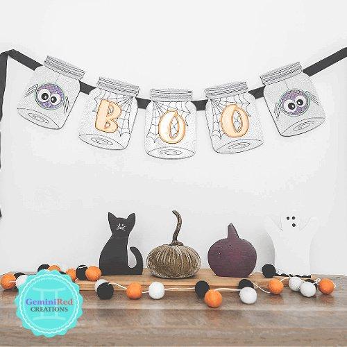Halloween Boo! Jar Banner