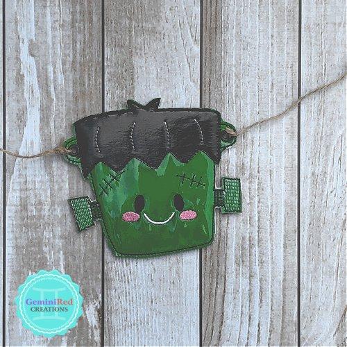 Halloween Frankenstein Banner Piece
