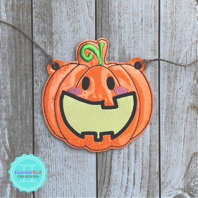 Halloween Pumpkin Banner Piece