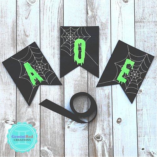 Halloween Spooky Spider Web Banner